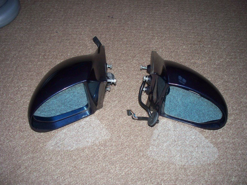 E36 Coupe AC Schnitzer Mirrors Genuine (coupe and convertible, M3, 328i, 325i, 323, 320, 318is)