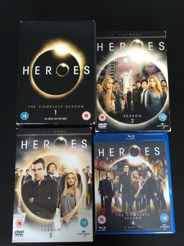 Heroes seasons 1-4 DVDs