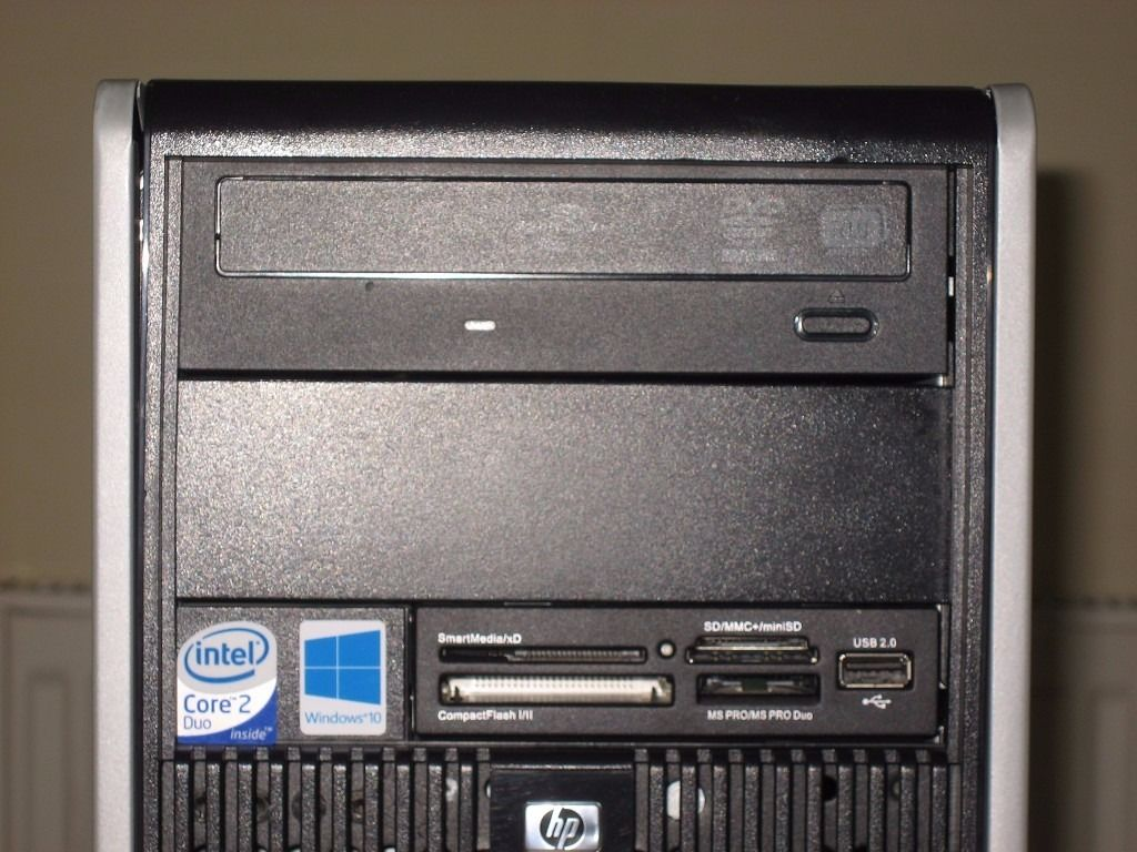 HP Dual Core Tower PC. 320GB HDD, 4GB RAM, Windows 10. Excellent Condition