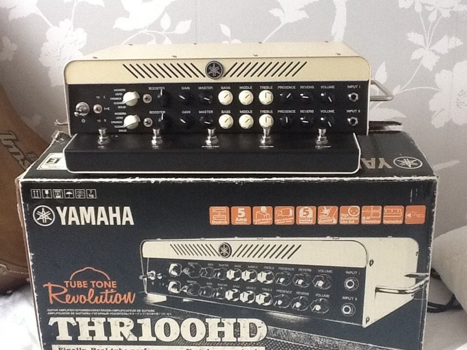 Yamaha THR 100 HD guitar amplifier in new condition and Orange Crush 60 combo