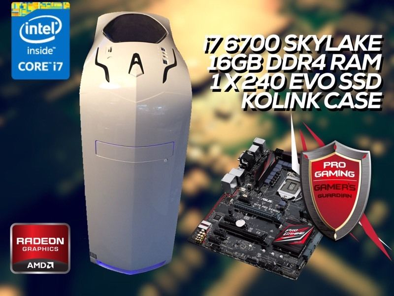 KOLINK Z170 GAMING PC - i7 6700, 16GB DDR4, Z170 Pro - FULL WARRANTY