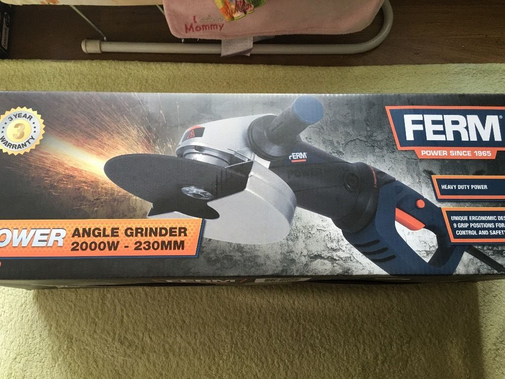 Ferm Power Tools 230mm Angle Grinder 2000w AGM1029
