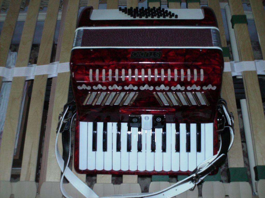 Accordion - Studio - 48 Bass Red/Black (not a dealer)