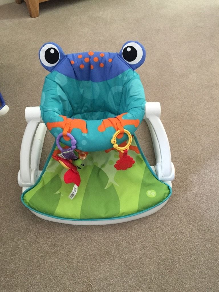Fisher Price Rainforest Sit Me Up Floor seat frog