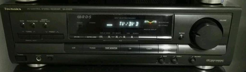 Technics SA-EX310 A/V Amplifier surround sound.