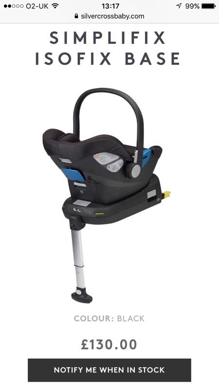 Isofix base suitable for silver cross car seat