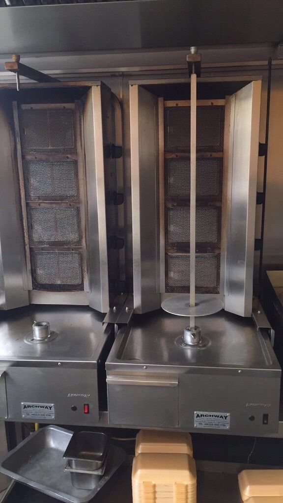 Doner machine, grill and fridge display for sale