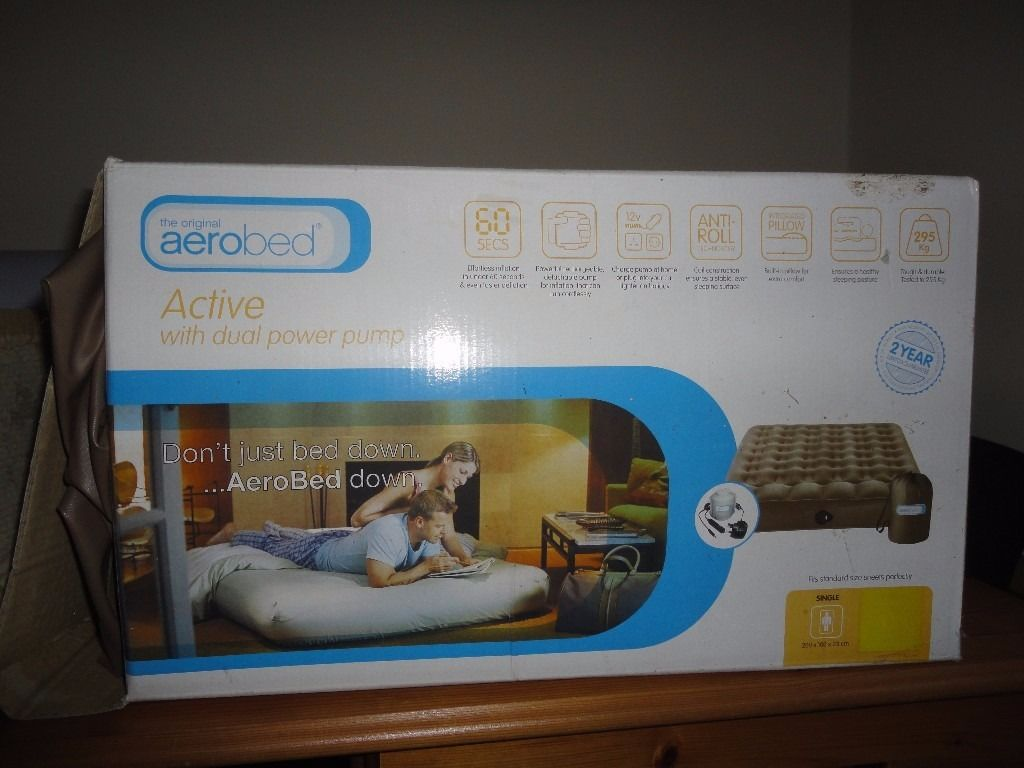 Aerobed inflatable single mattress