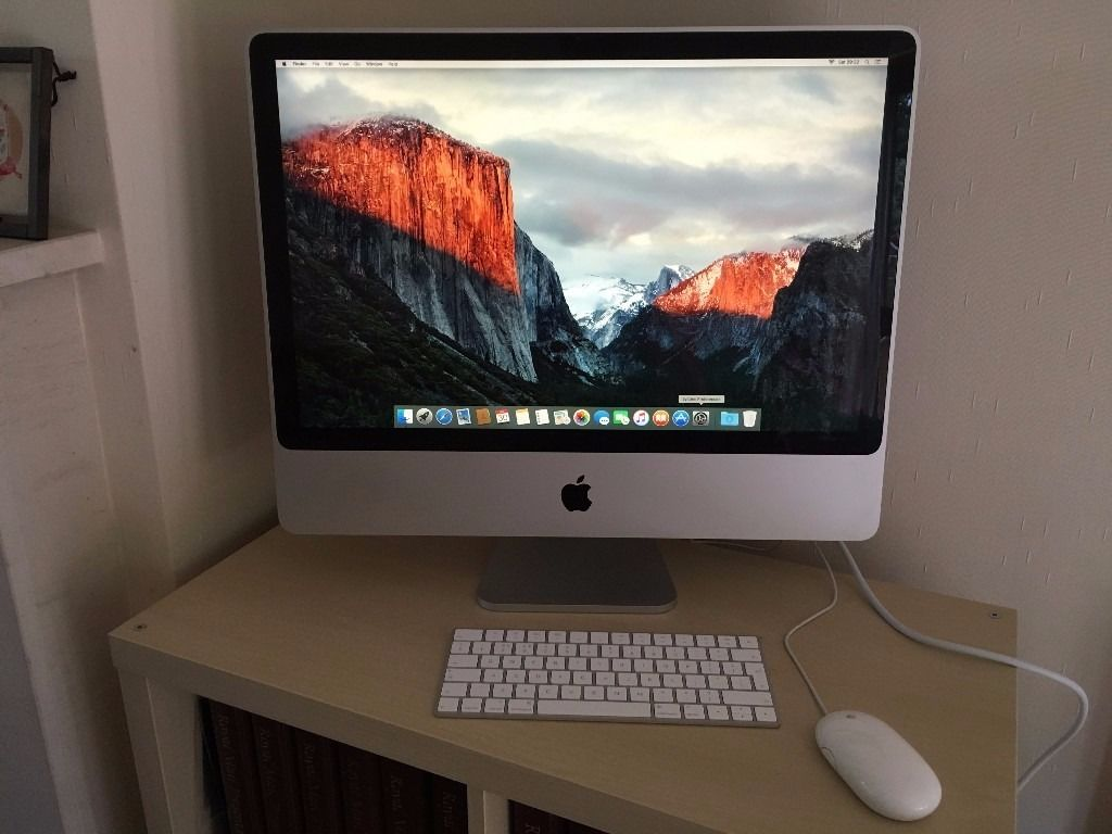"Upgraded iMAC 24"" 3.06 GHz 4GB RAM with very fast Solid state 500GB Hard Drive"