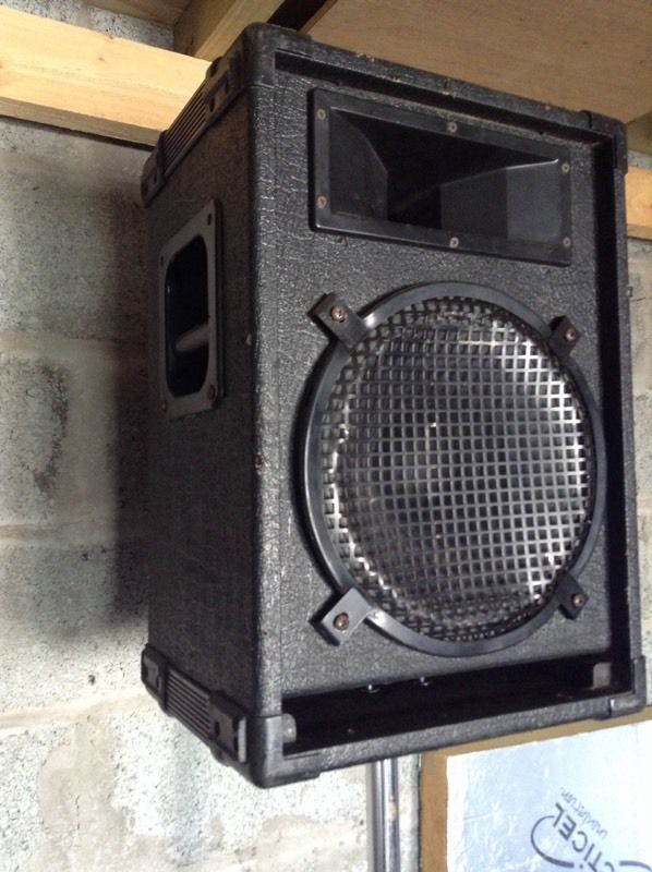 Full PA System HH speakers and Behringer powered mixer mixing desk