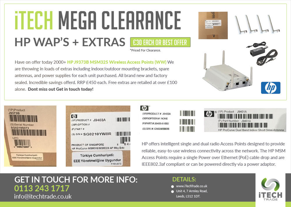 HP ProCurve Wireless Access Points - MAD CRAZY CLEARANCE!