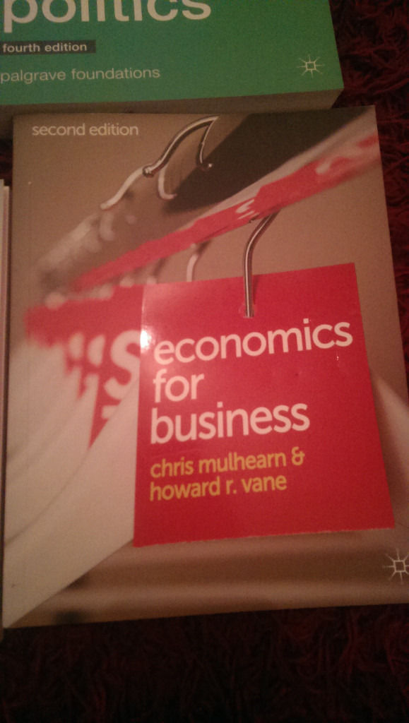 Economics book - economics for business by Mulhearn & Vane