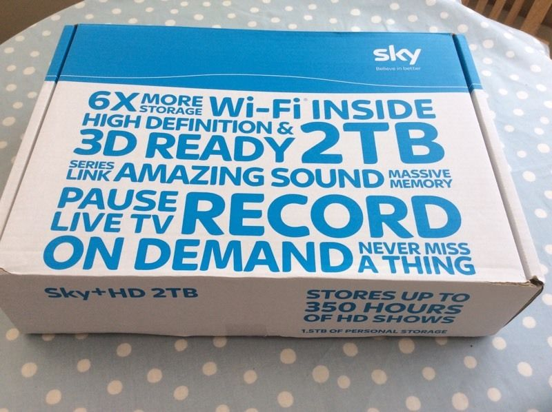 Sky+ HD 3D 2TB Box In Excellent Condition