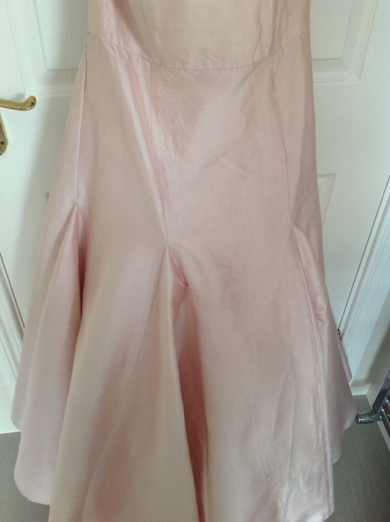 Vintage style pale pink designer Loulou Bridesmaid dress size 12/14