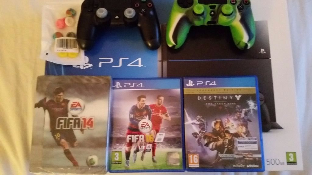 Boxed PS4 500GB + Games + extra controller + more