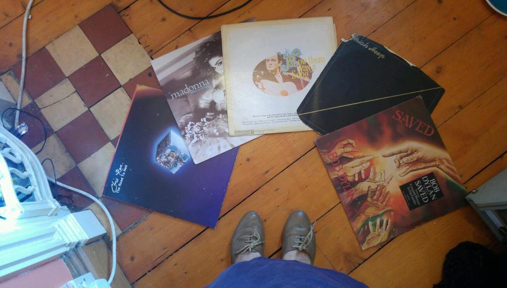 Selection of LP records x5