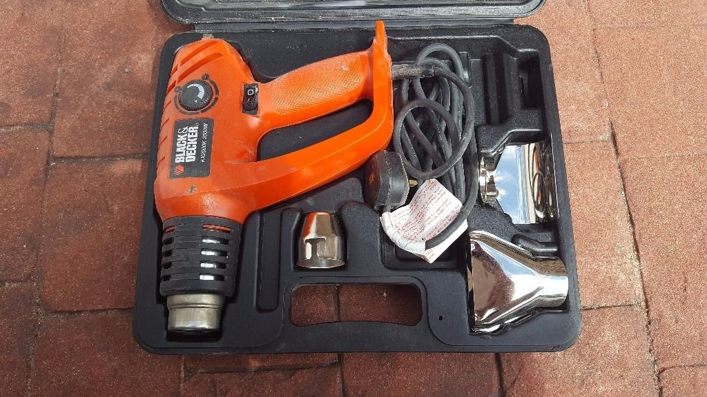 Black & Decker Paint Stripper Hot air Gun in Original sturdy box with fittings and instructions