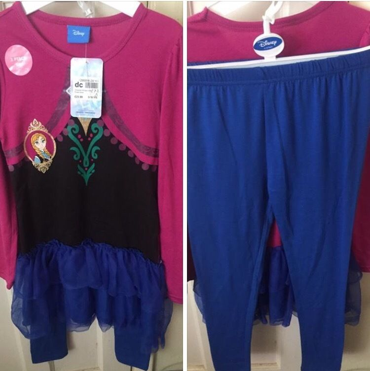 Disney Frozen top and leggings age 9-10(new)