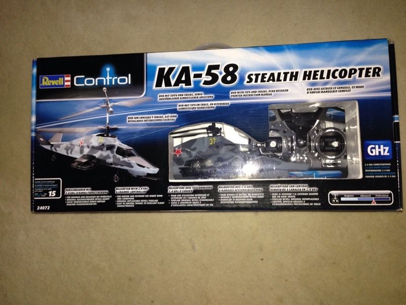 Revell control KA-58 Stealth remote control helicopter new & boxed