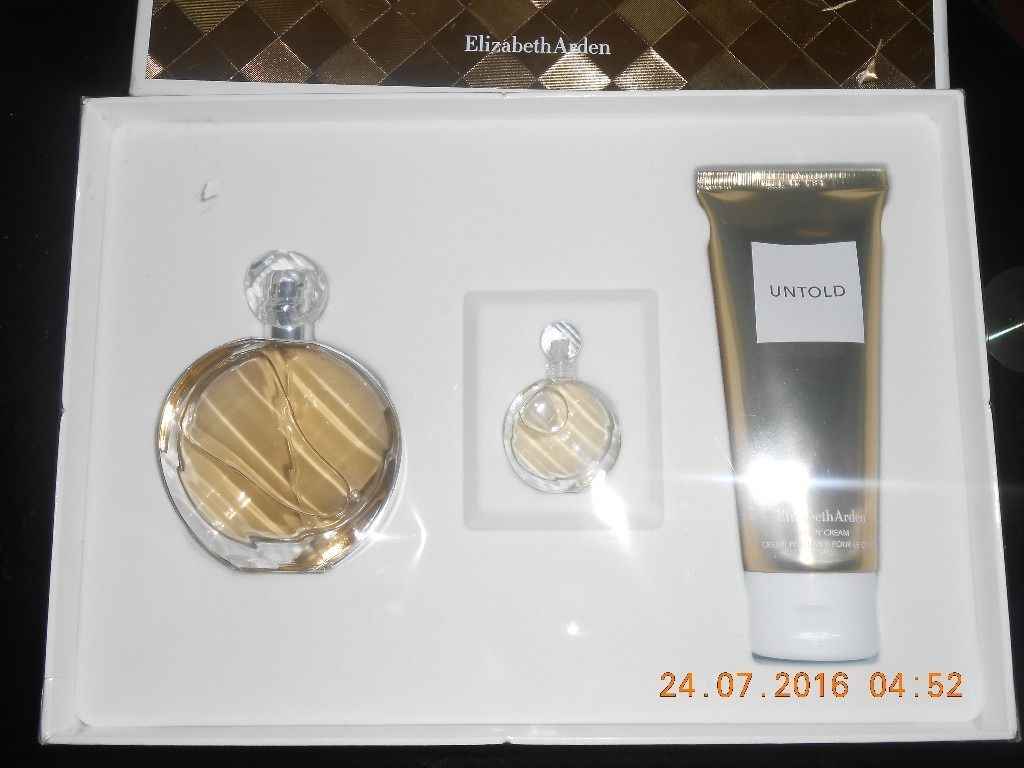 "Elizabeth Arden ""Untold' perfume set (50ml EDP, 100ml Body Cream, 5ml EDP)"