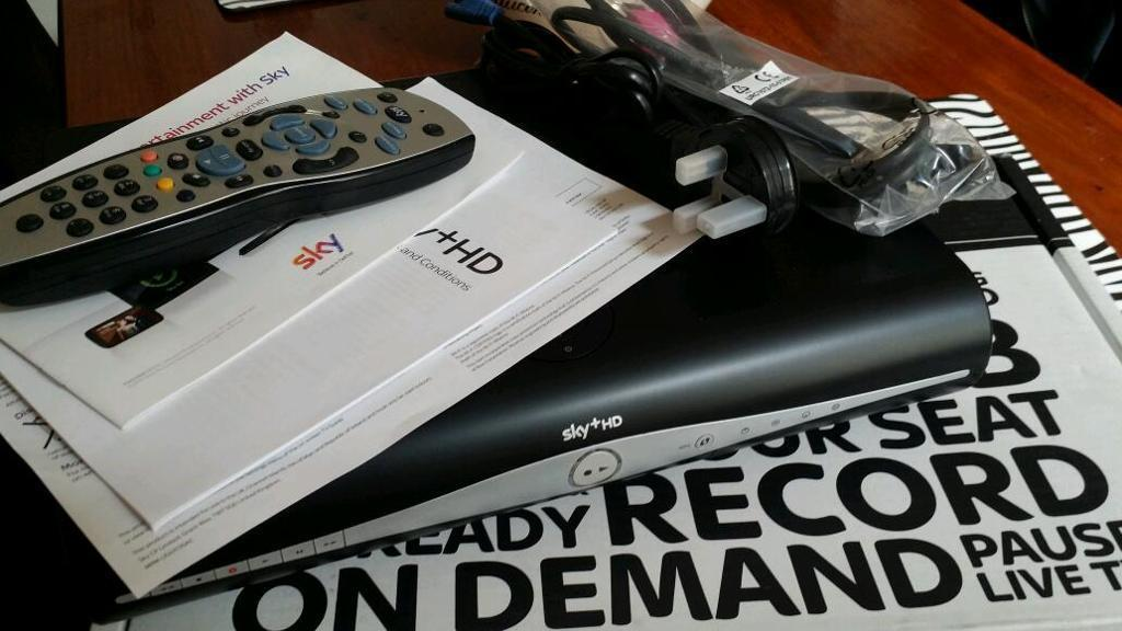 Sky + HD Box, Viewing Card, Remote + Cables