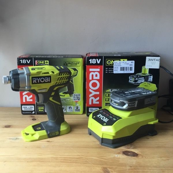 Ryobi Impact driver drill inc battery and charger one+