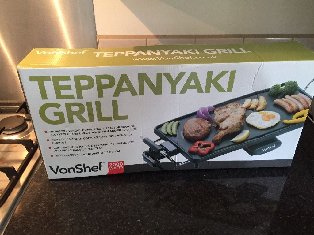 Hot plate teppanyaki grill never used still in box cooker