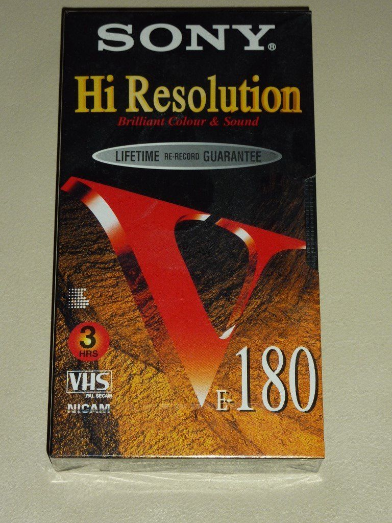6 x Sony Hi Resolution VHS 3 Hour Video Cassette Tapes E-180 New Sealed