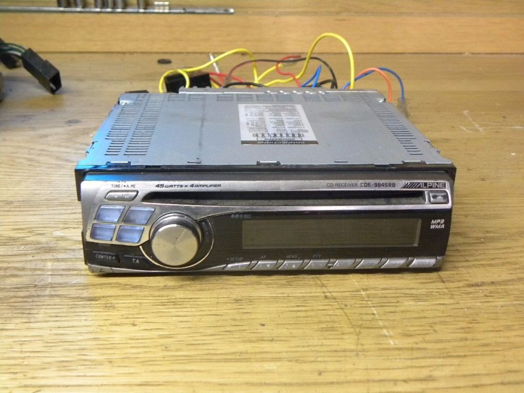 Alpine CDE-9845RB MP3 WMA Car Radio Cd Player 45w x 4 Car