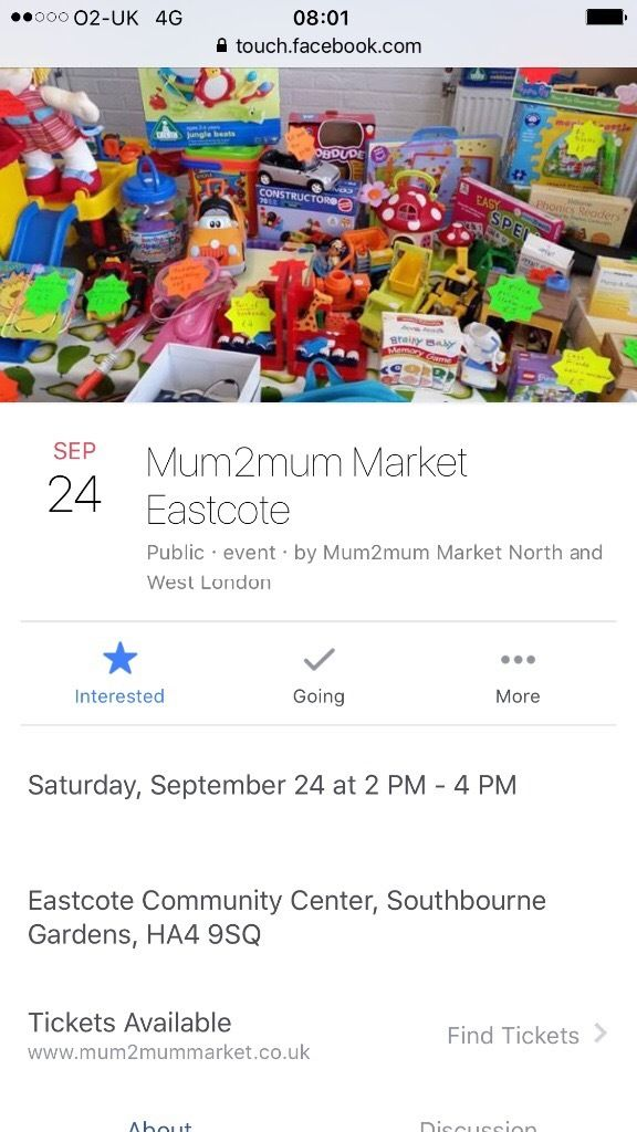 Mum2mum market Eastcote 24th September 2016