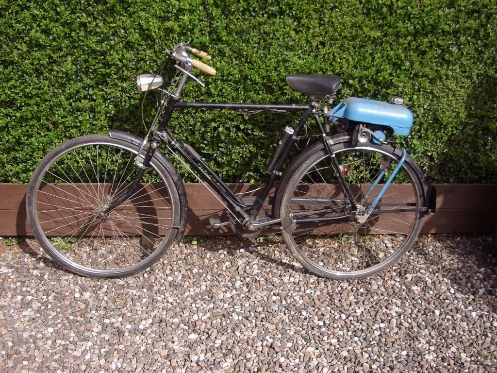 Collectors vintage Trojan motorised 2 stroke bicycle.