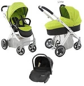 Now Reduced Price!! Babystyle Oyster Travel System in lime.