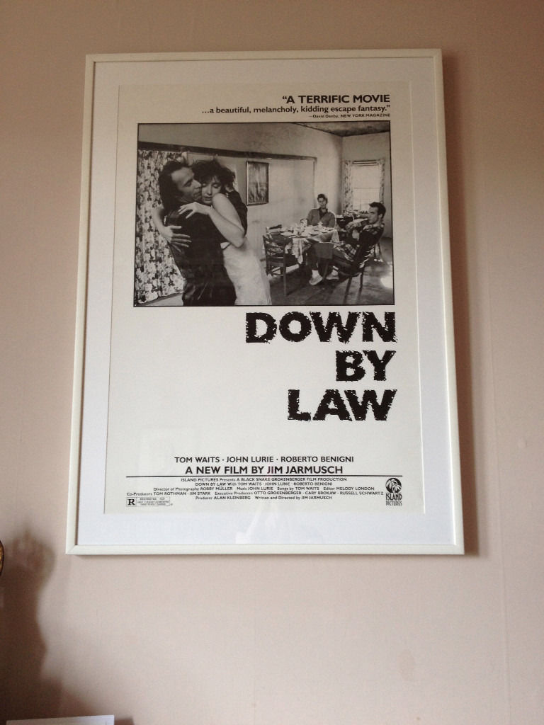 Down By Law Jim Jarmusch framed movie poster
