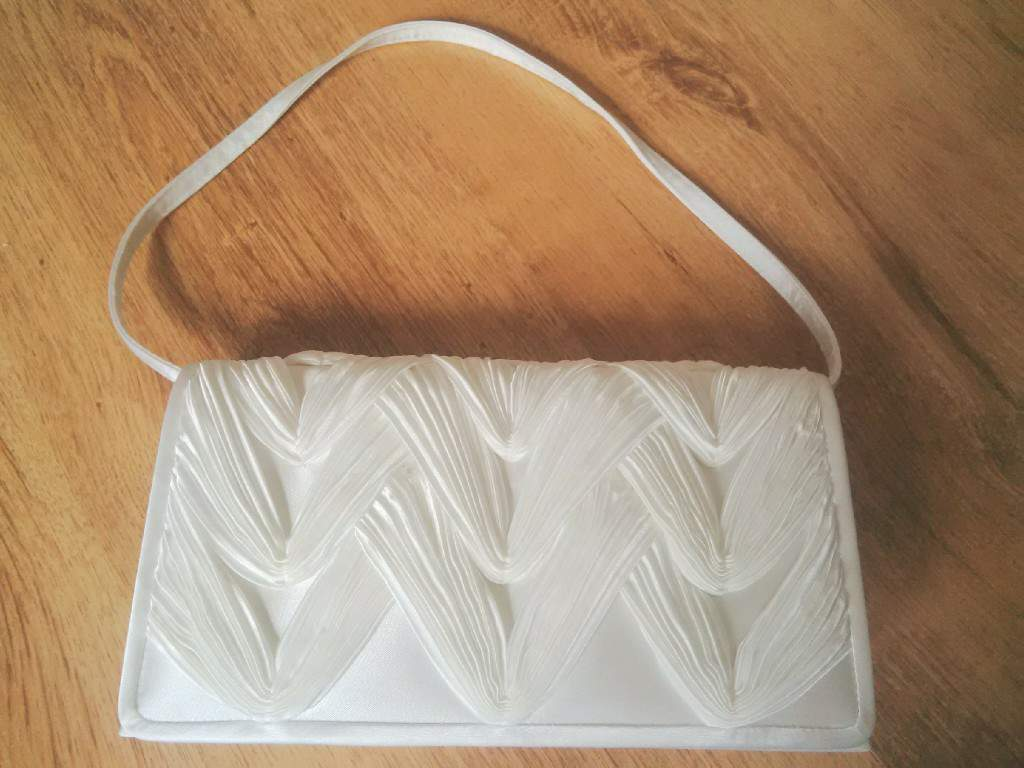 Various wedding outfit accessories: bag, shawl, shoes from debenhams, great condition