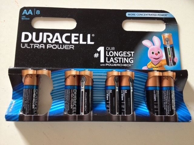 Duracell MX1500 Ultra Power AA Size Batteries--Pack of 7