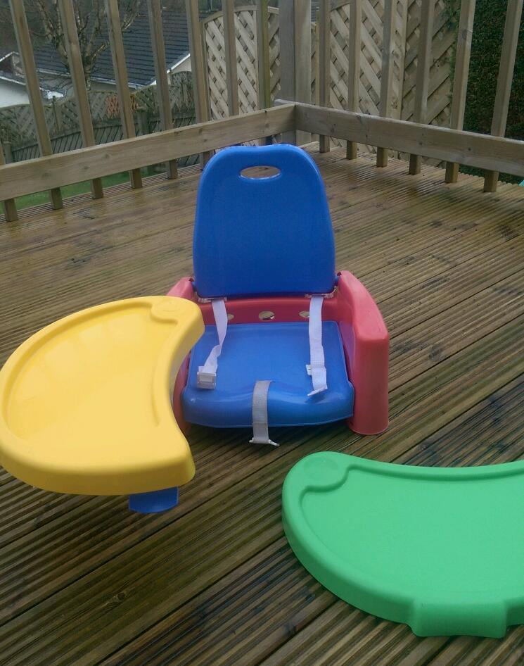 The first years high chair baby booster seat with trays
