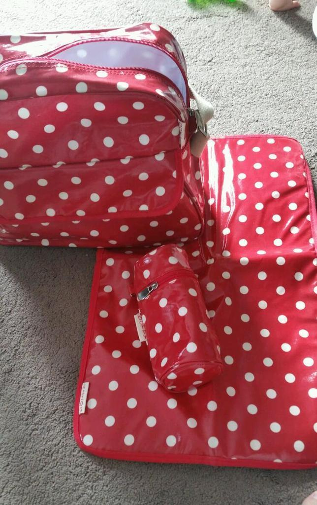 Dotty baby changing bag