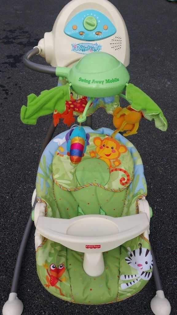 Fisher Price Rainforest Swing to rock baby gently to sleep