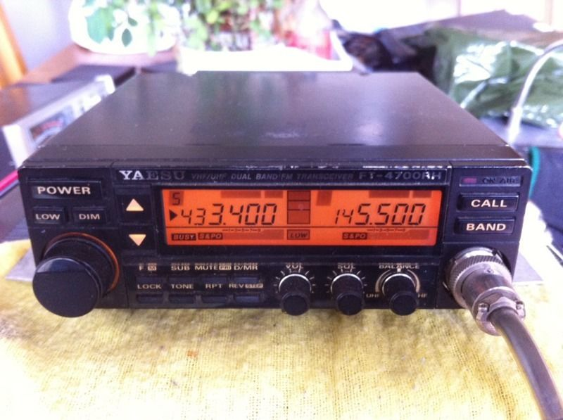 Yaesu FT 4700 RH dual band mobile radio