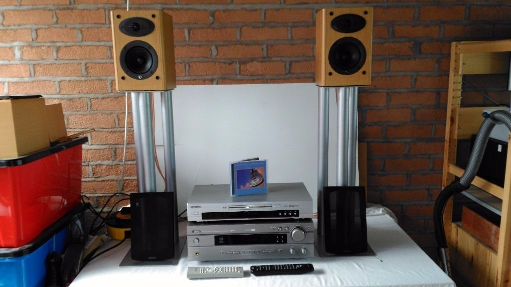 Yamaha AV Amplifier, Celestion Speakers and Samsung DVD Player