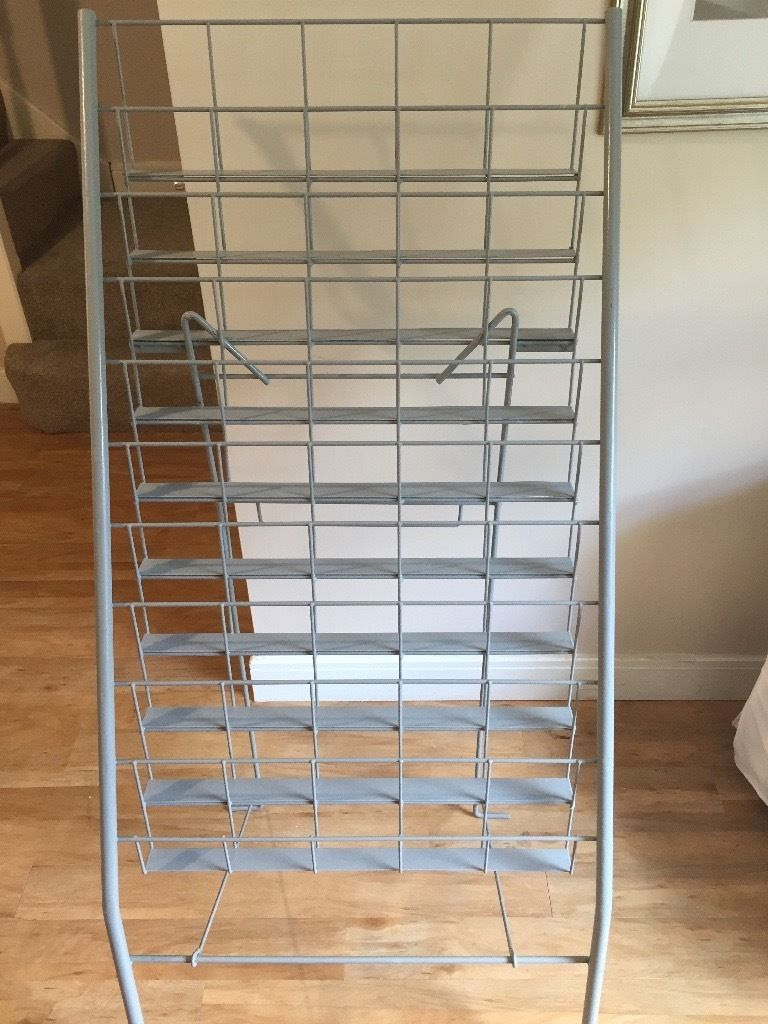 Greetings Card Wire Display Stand in Grey