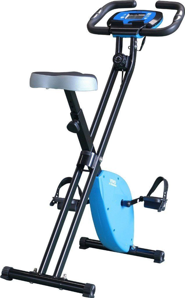 Foldable Exercise Bike For Cardio Fitness Workout with Tablet Holder