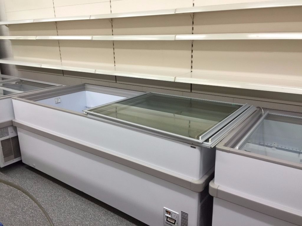 2 metre JUMBO SLIDING GLASS LID CHEST FREEZER