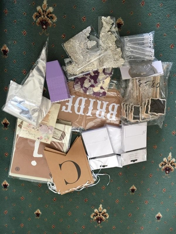Box of wedding accessories