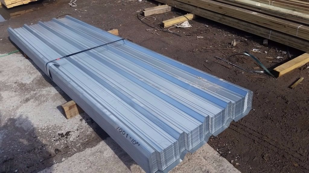 """ROOFING SHEETS METAL BOX PROFILE GALVANIZED 10ft X 2ft 9"""" 3mtr X 0.85mtr 17kg HEAVY DUTY FREE DEL."""
