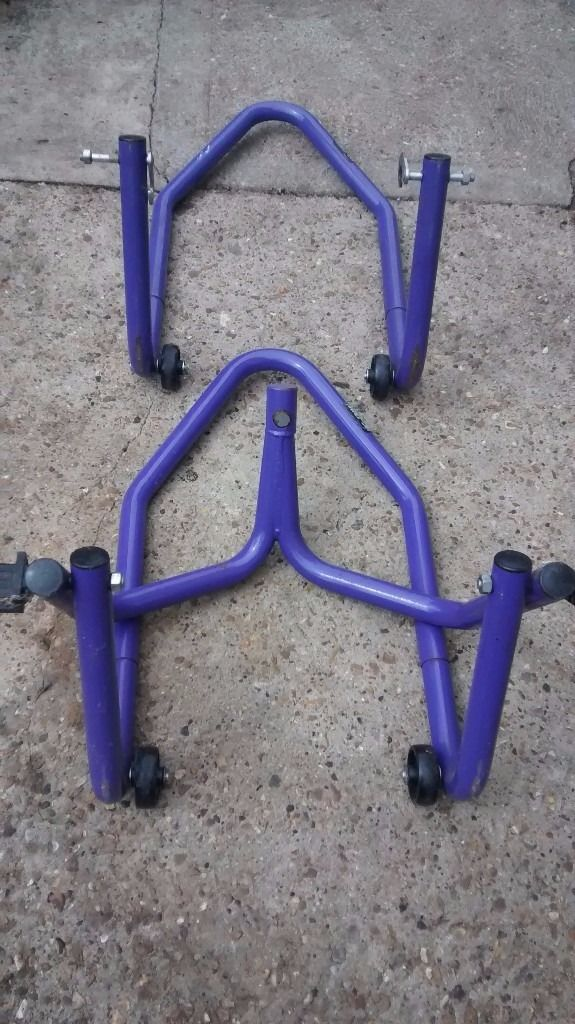 MICRON MOTORCYCLE PADDOCK STANDS FRONT AND REAR