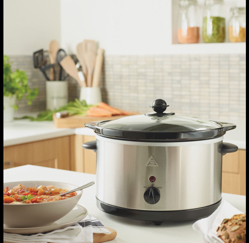 George 3L Stainless Steel Slow Cooker