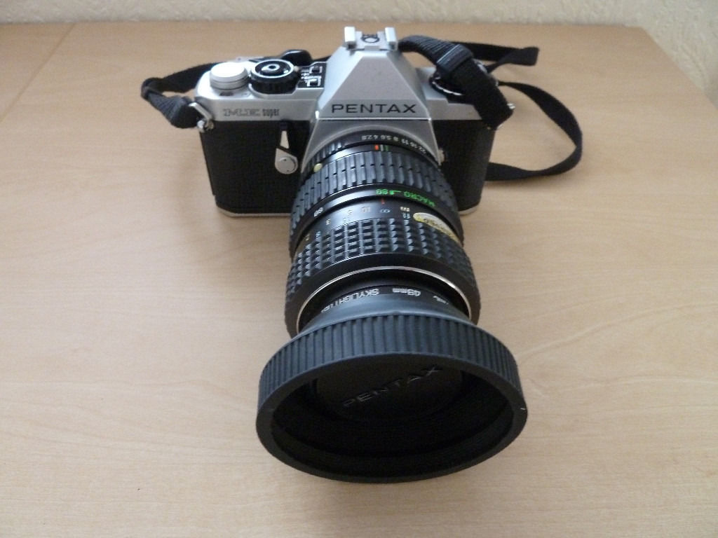 Pentax ME super 35mm SLR Camera with 24-35 zoom, 40-80 zoom and also 80-200 zoom
