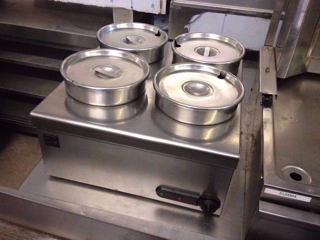 CATERING COMMERCIAL 4 POT BAIN MARIE KITCHEN CUISINE RESTAURANT FAST FOOD TAKE AWAY COMMERCIAL CAFE