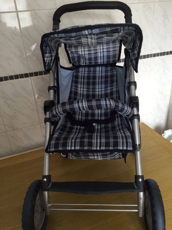 You and Me toy pushchair blue